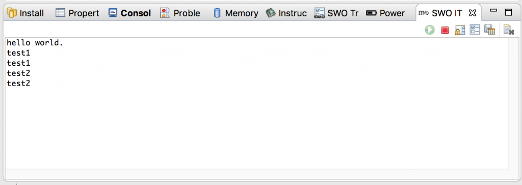 SWOコンソール入力