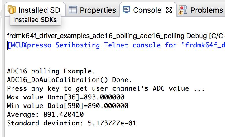 ADC変換完了を検出するのにポーリングを使用した場合