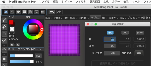 Mediban Paint Proを使ってサイズ調整