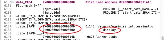 セクション配置をITCに変更したdisplay()関数
